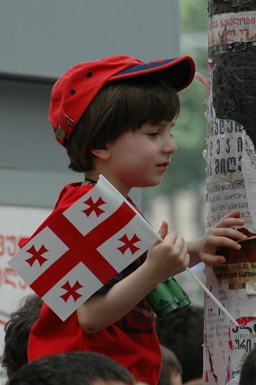 Young Georgian Patriot - Tbilisi, Georgia