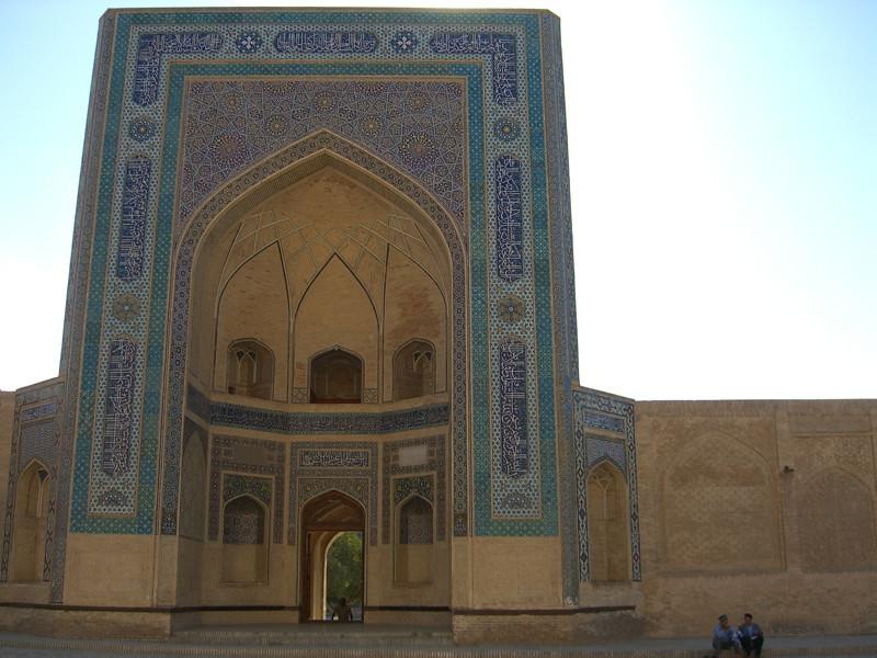 Men on the Medressa - Bukhara, Uzbekistan