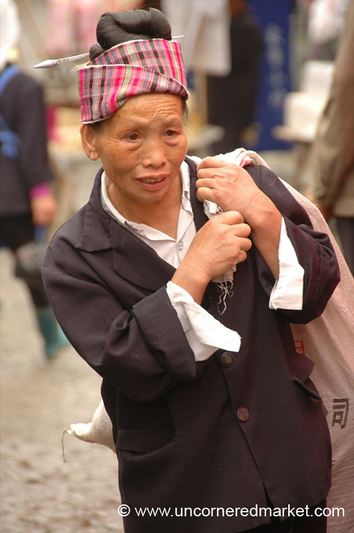 Maio Woman at Gedong Market - Guizhou Province, China