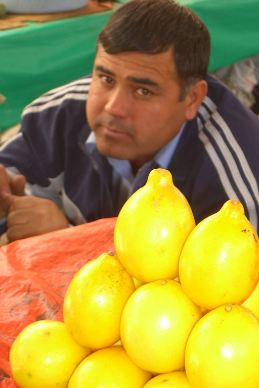 Lemons at Shah Mansur Bazaar - Dushanbe, Tajikistan