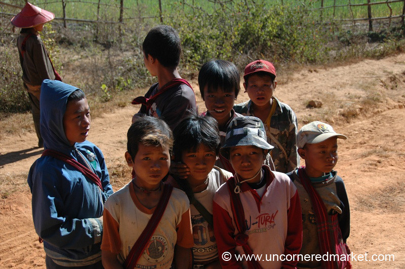 Burmese Kids Out From School - Inle Lake, Burma