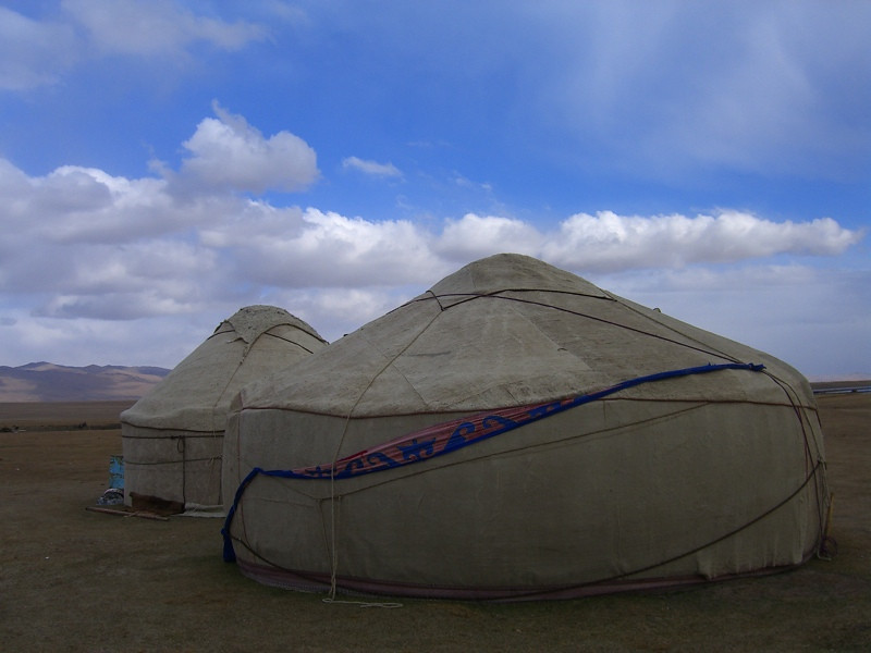 Yurts at Song Kul Lake, Kyrgyzstan