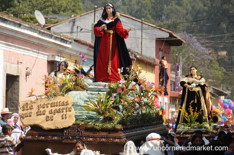 Women's Float, Semana Santa - Antigua, Guatemala