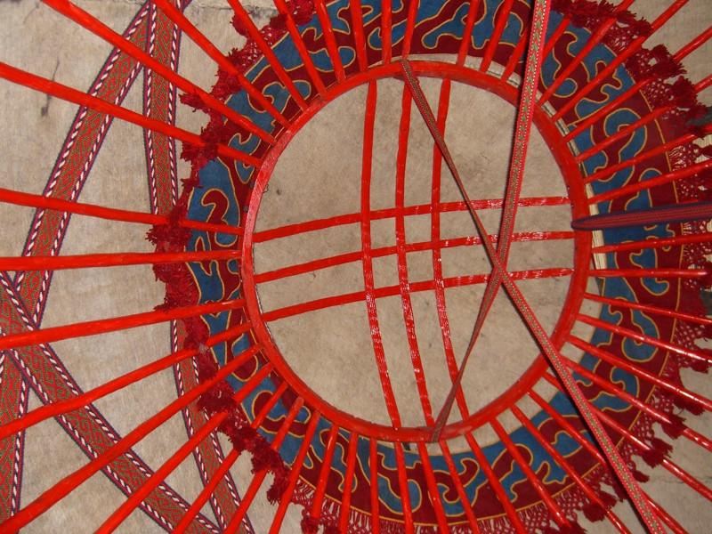 Yurt Ceiling Designs - Manzhyly, Kyrgyzstan