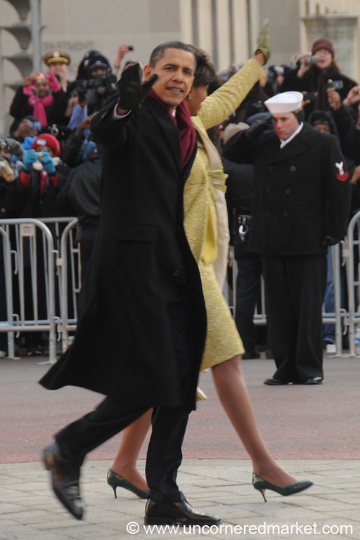 Obamas on Parade - Washington DC, USA