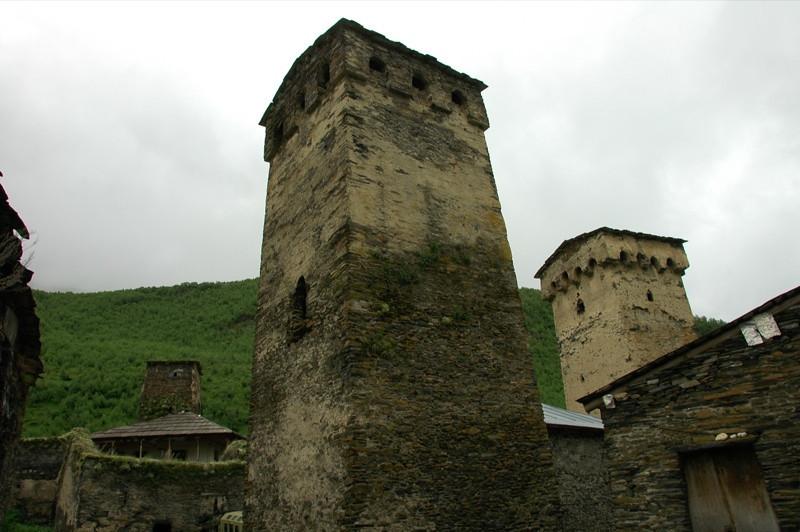 Svan Towers in Ushguli - Svaneti, Georgia