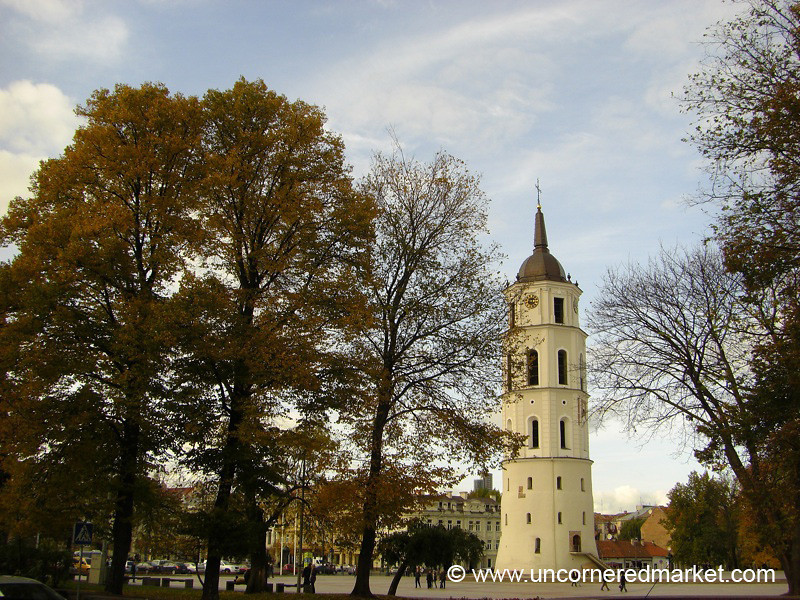 Cathedral Square in Autumn - Vilnius, Lithuania