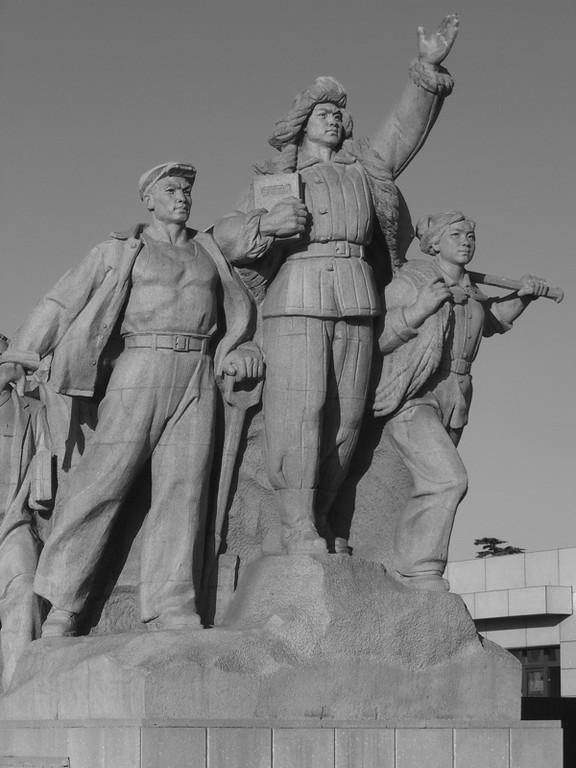 Tiananman Square Communist Statue - Beijing, China