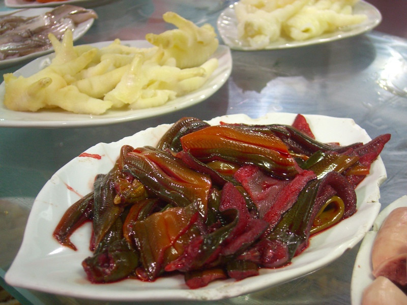 Marinated Fish and Chicken Feet - Kaili, China