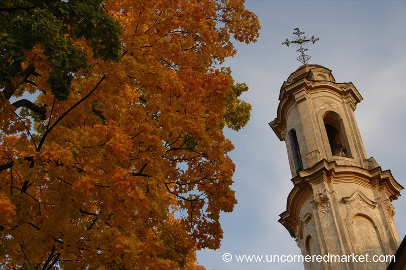 Autumn Church Steeple - Vilnius, Lithuania
