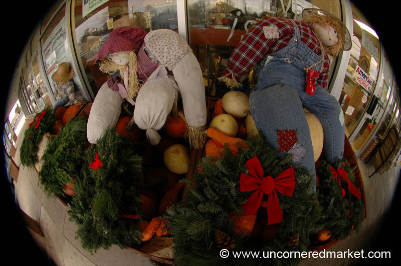Scarecrows, Gourds and Christmas Wreaths - Vienna, Virginia