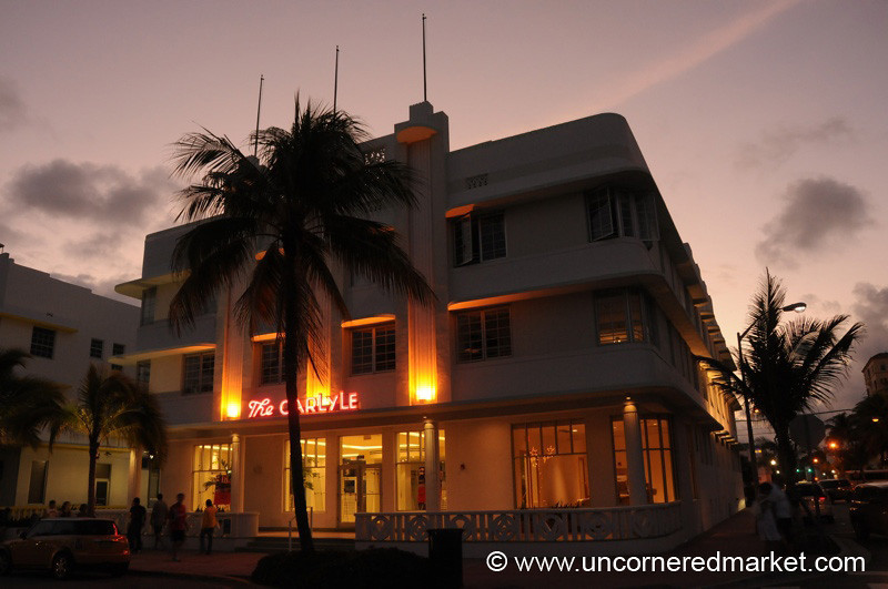Evening Over The Carlyle, South Beach - Miami, Florida