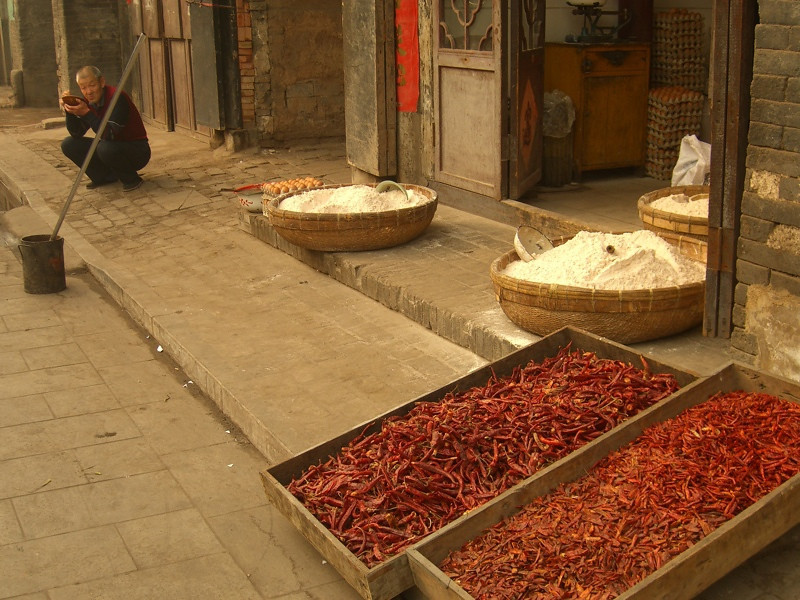 Chili Peppers Drying Out - Pingyao, China