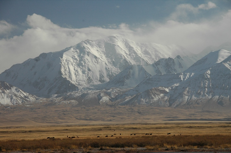 Snow-Covered Mountains - Sary Tash, Kyrgyzstan