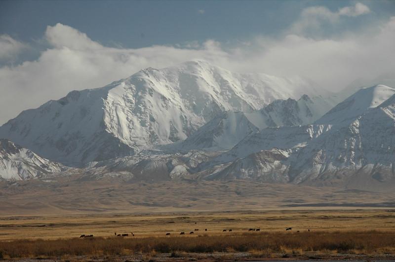Snow-Covered Mountains - Sary Tash, Kyrgyzstan