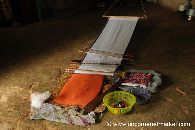Traditional Backstrap Weaving - San Pedro Sacatepequez, Guatemala