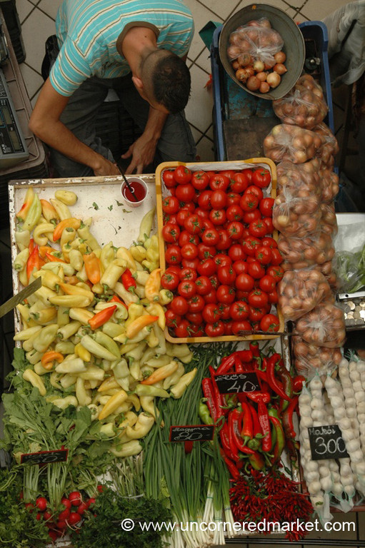 Tomatoes and Peppers, Lehel Market - Budapest, Hungary