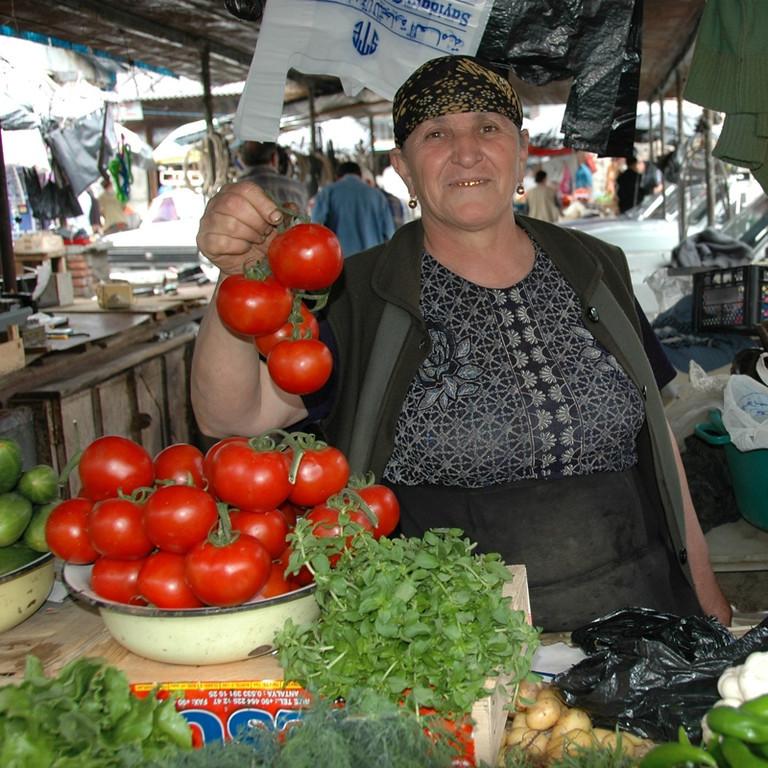 Perfect Tomatoes at Telavi Market- Kakheti, Georgia
