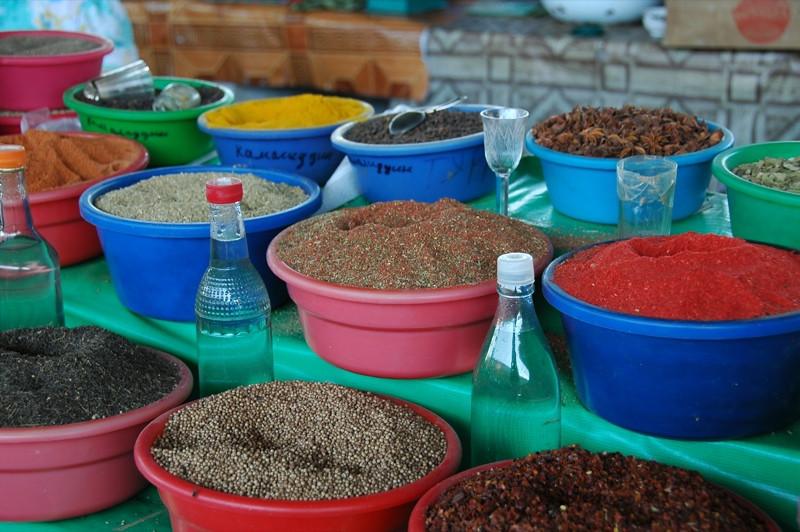 Spice Stand at Market - Bukhara, Uzbekistan