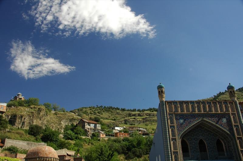 Tabori Mountain Behind City - Tbilisi, Georgia