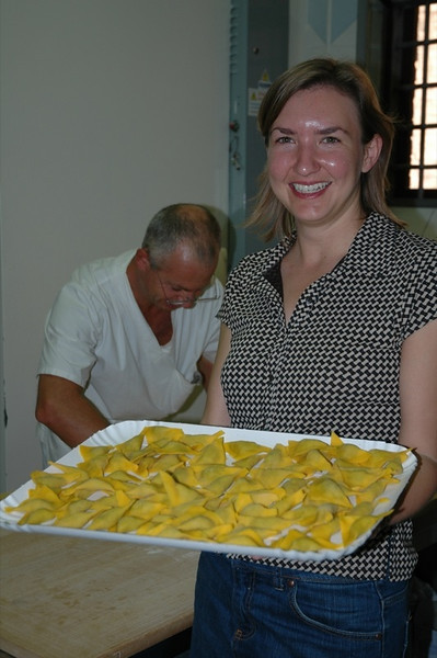 Audrey with Tray of Tortelloni - Bologna, Italy