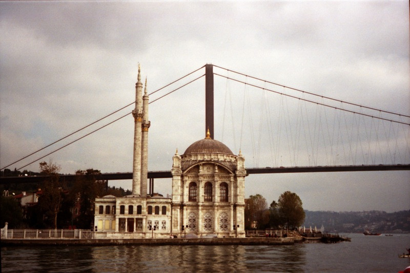 A Mosque along Bosporus River - Istanbul, Turkey
