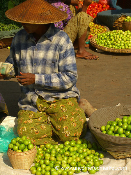 Tiny Apples for Sale at Market, Mandalay, Burma