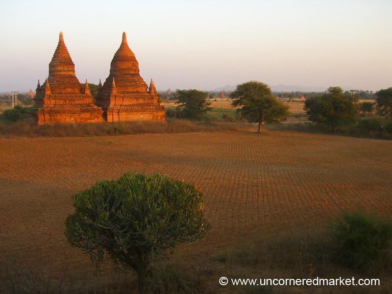 Sunset Over Stupas - Bagan, Burma