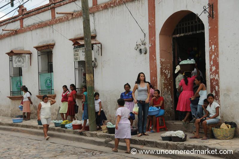 Typical Day at the Copan Ruinas Market, Honduras