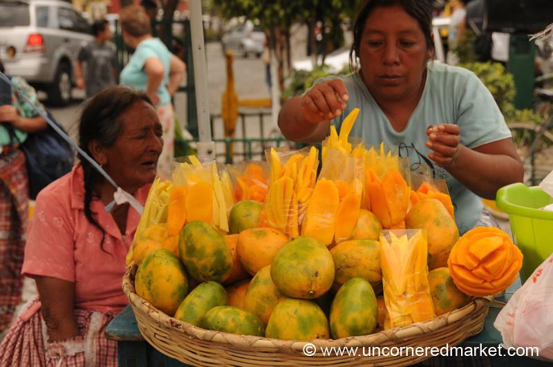 Mangoes at Antigua Market, Guatemala