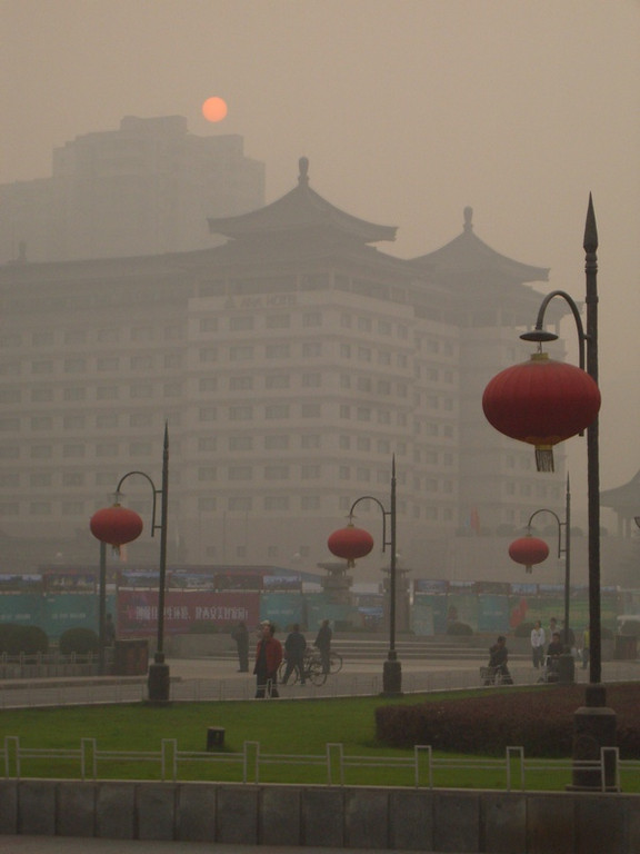 Autumn Fog in Xi'an, China