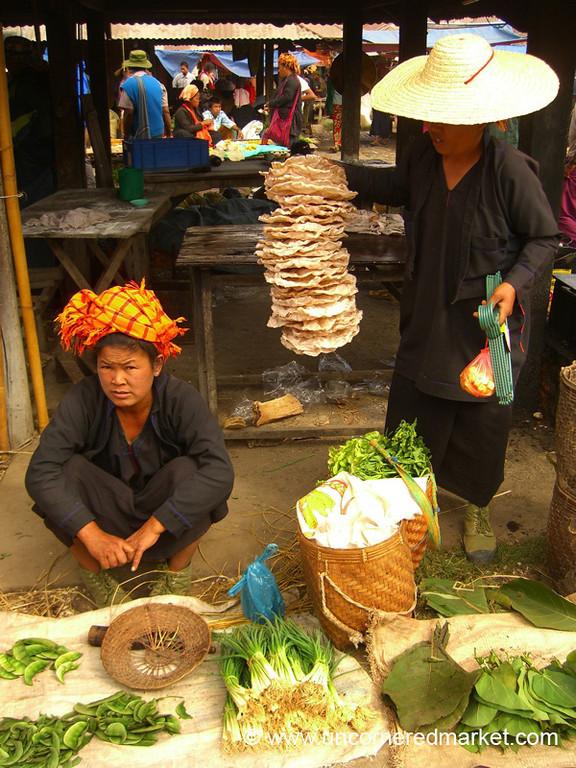 Veggies and Rice Cakes - Inle Lake, Burma