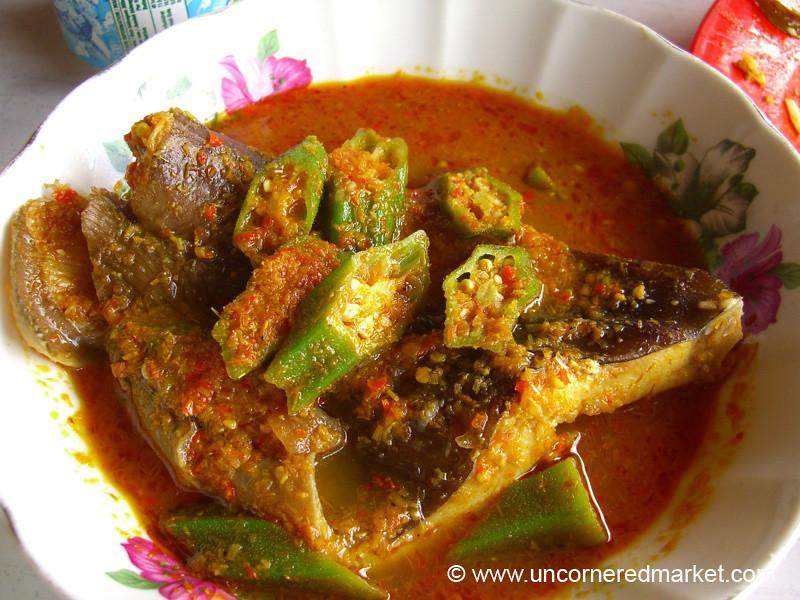 Malaysian Fish and Okra Curry - Melaka, Malaysia