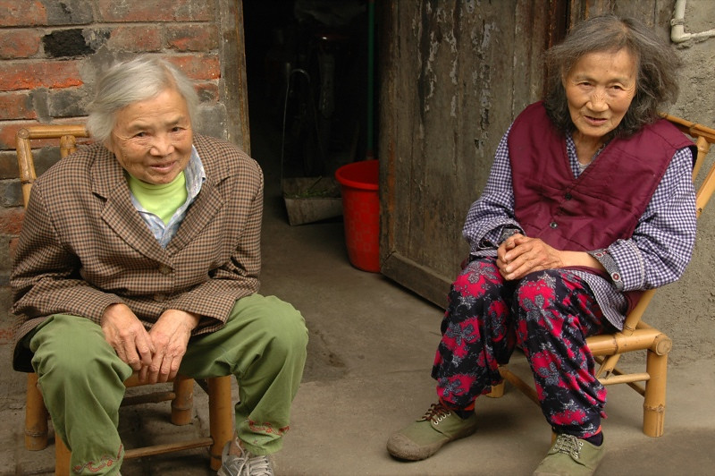 Elderly Chinese Women - Chengdu, China