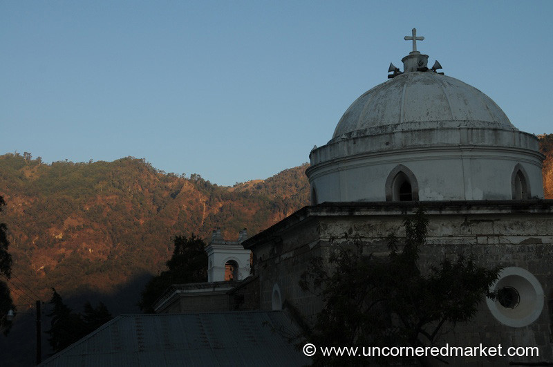 Guatemalan Church at Dawn - Lake Atitlan, Guatemala