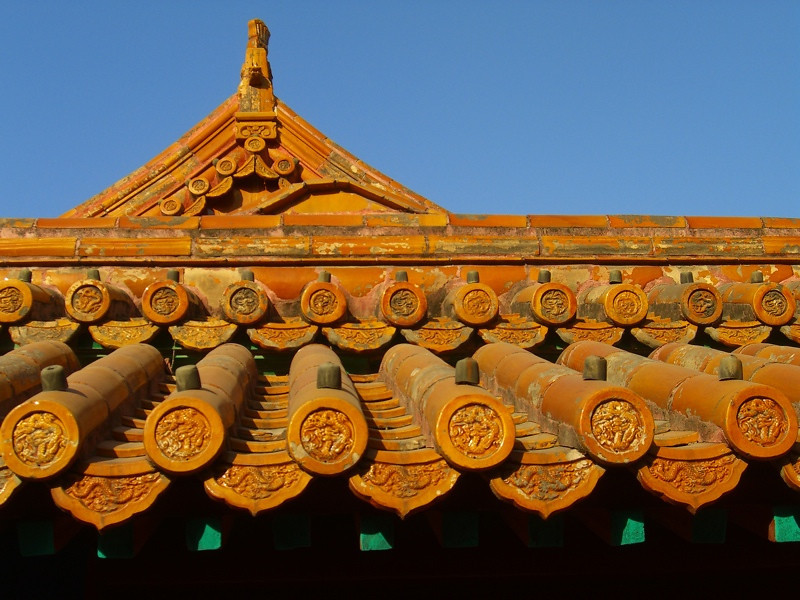 Architectural Rooftop at Forbidden City - Beijing, China