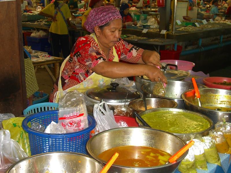Woman Selling Curries - Krabi, Thailand