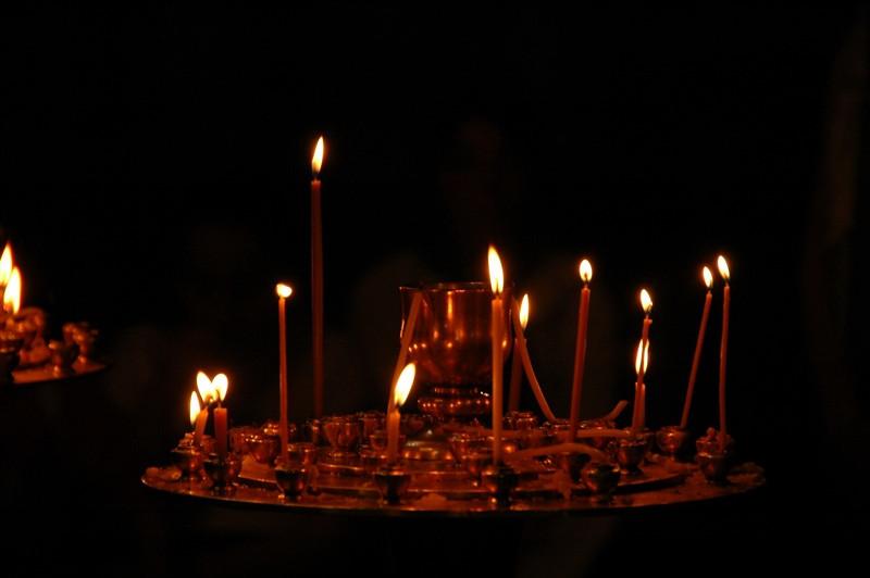 Candles at the Church - Tbilisi, Georgia