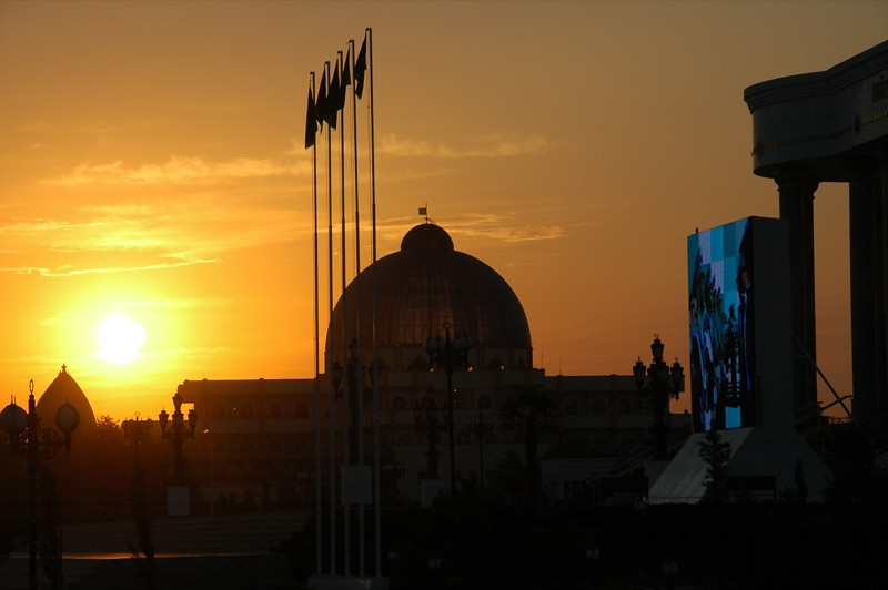 Sunset in Mary - Mary, Turkmenistan