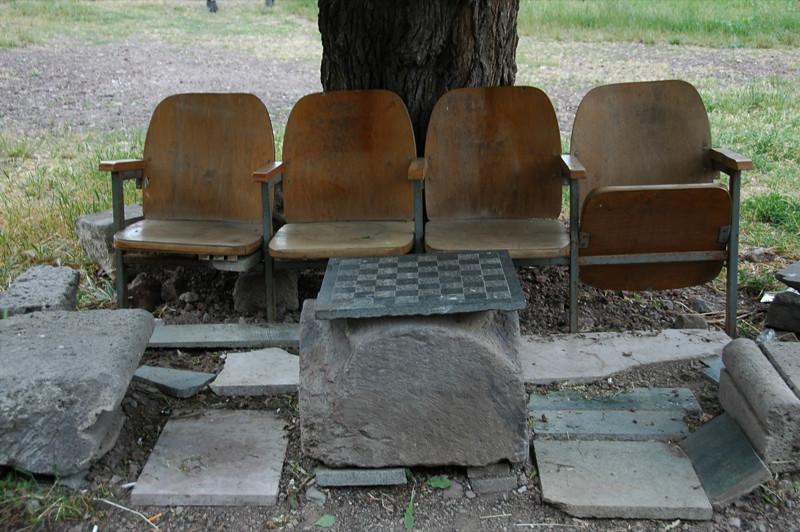 Chess Set and Chairs - Tatev, Armenia