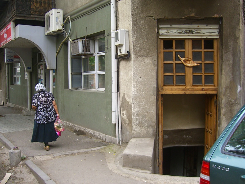 Woman Near Bakery - Tbilisi, Georgia