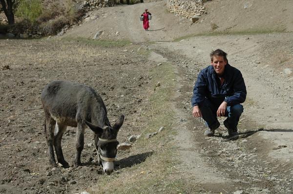 Dan and a Donkey - Garm Chashma, Tajikistan