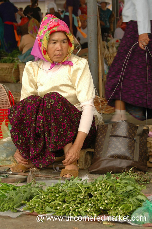 Vegetable Vendor - Xishuangbanna, China