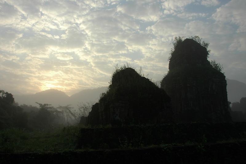 My Son Sun Breaking through the Clouds - Hoi An, Vietnam