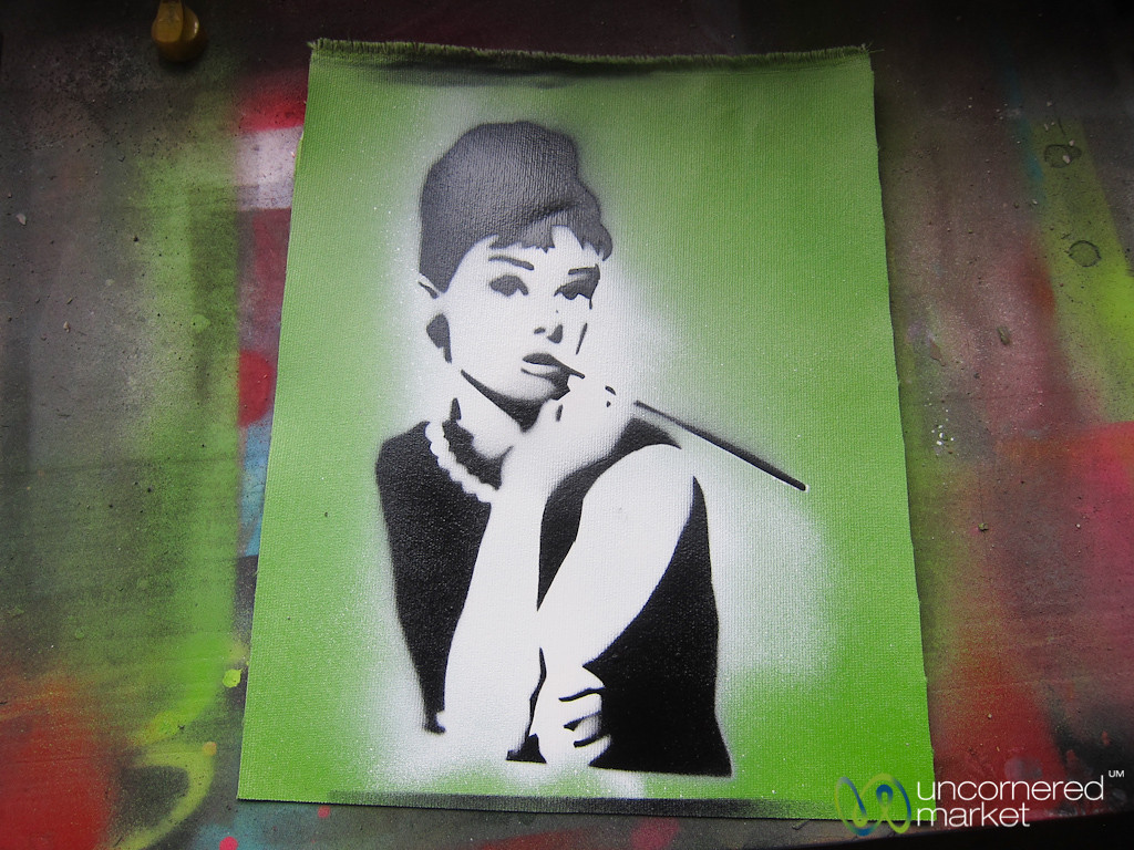Alternative Berlin Street Art Workshop, Audrey's Stencil - Berlin