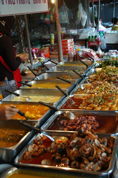 Thai Curries at Krabi Night Market - Thailand