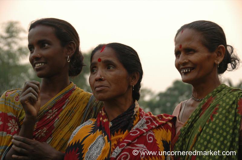 Women Listening Intently, Microfinance - West Bengal, India