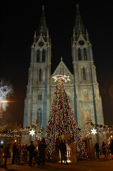 Christmas Market at Namesti Miru - Prague, Czech Republic
