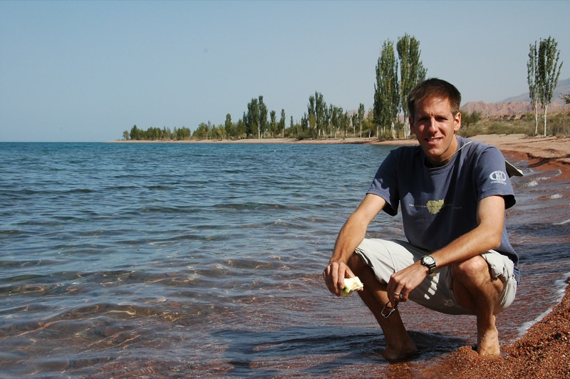 Shores of Lake Issyk-Kul, Kyrgyzstan