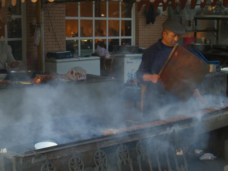 Xinjiang Food: Making Kebab - Kashgar, China